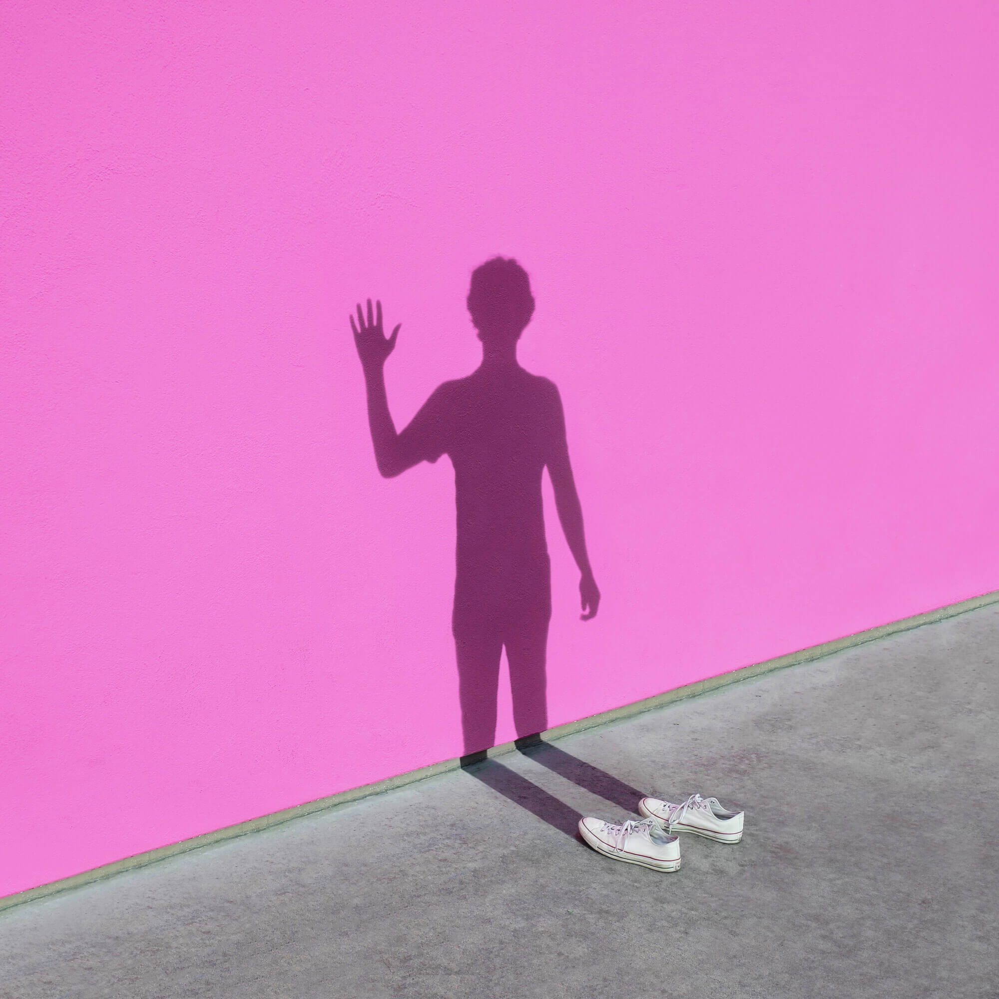 Shadow on wall with converse