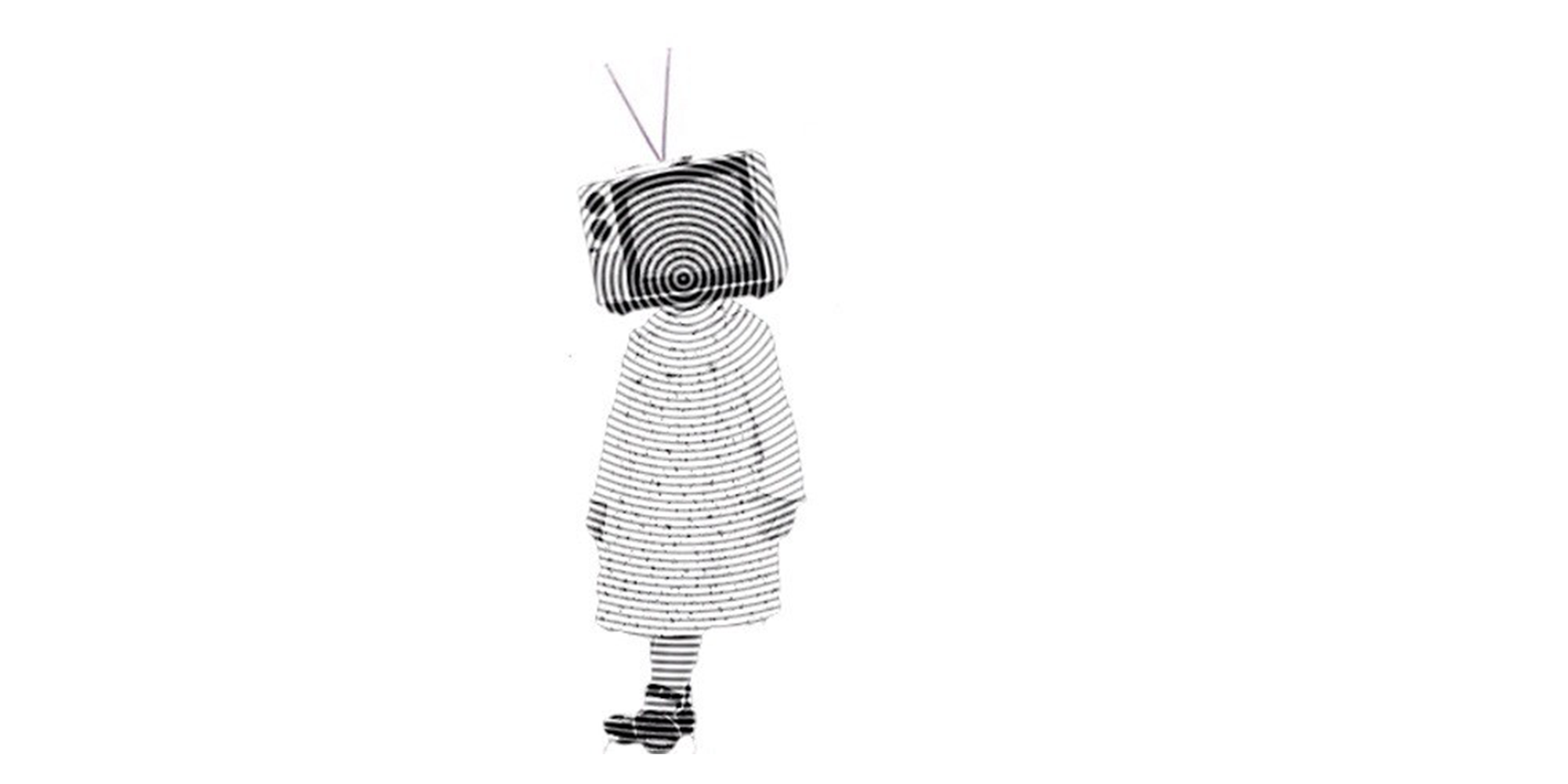 body with tv head