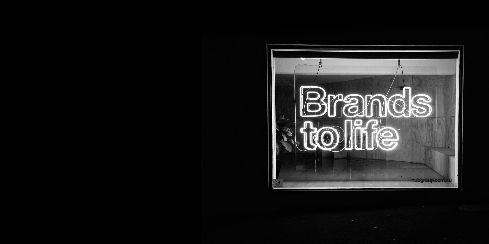 brands to life neon sign
