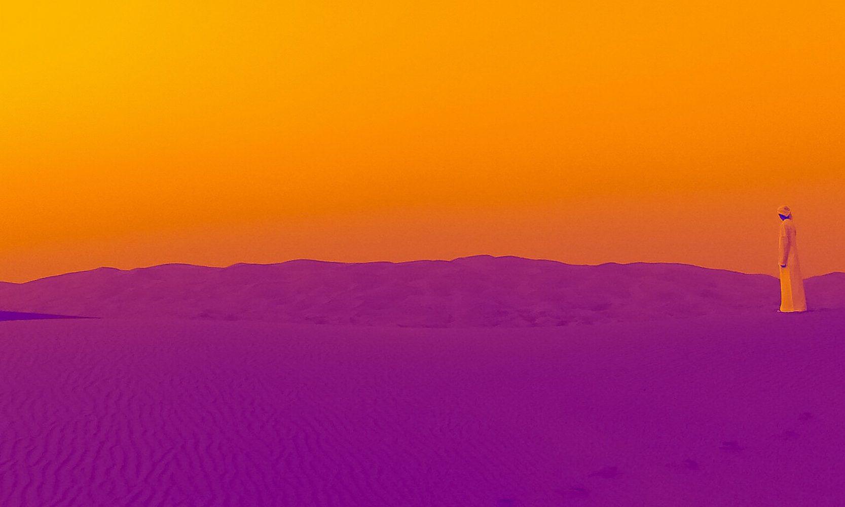 purple and orange desert