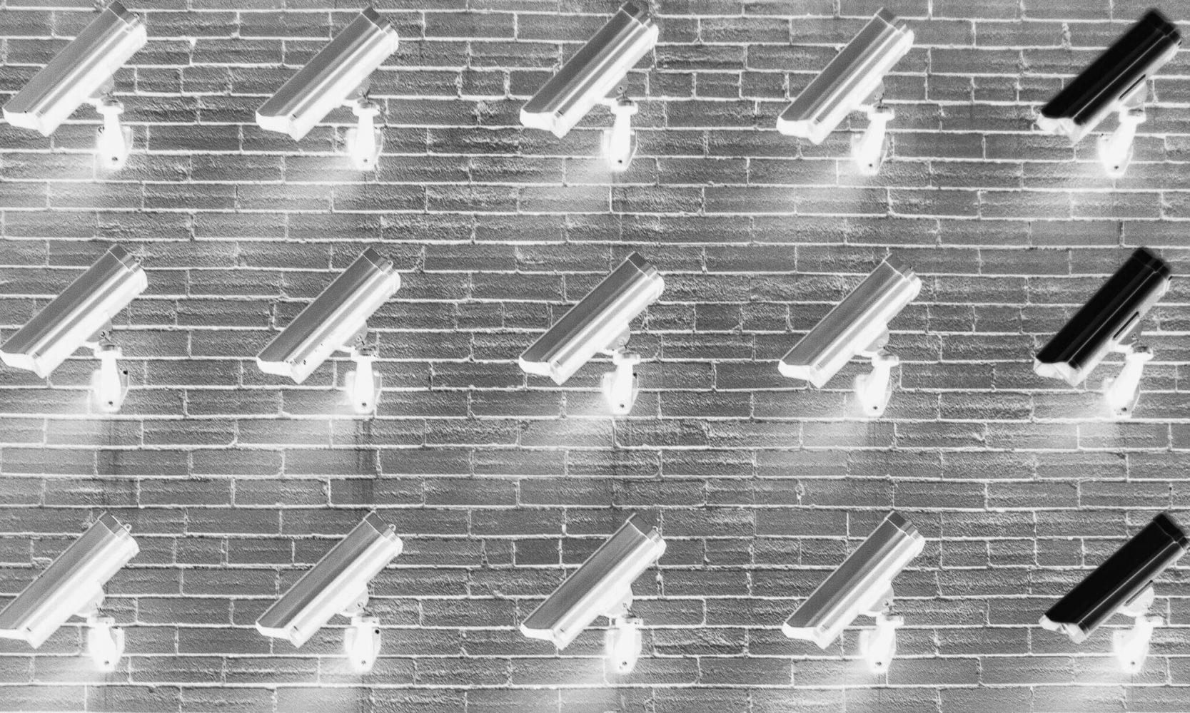 cctv camera wall installation