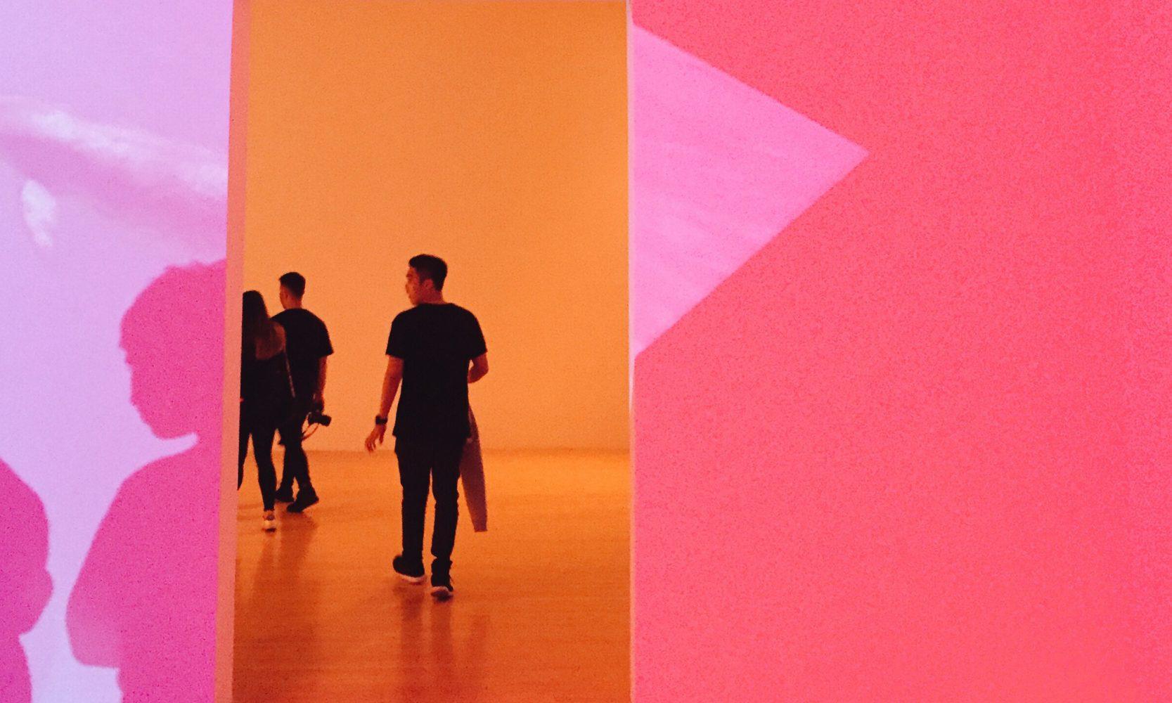 pink and orange art installation